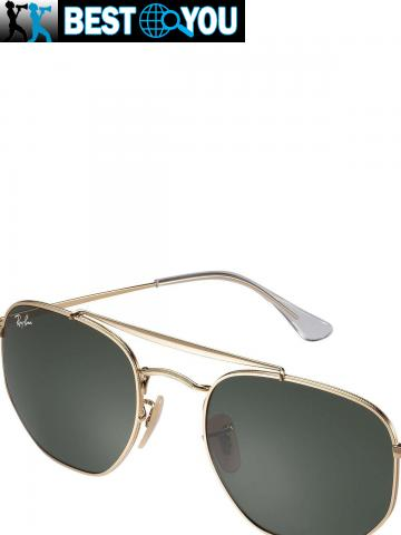 Ray-Ban Homme RB3648 Marshal Lunettes de soleil, Or - 1/5