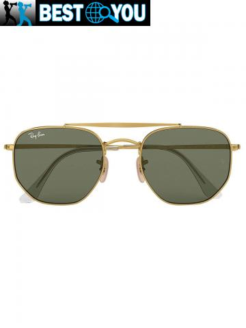 Ray-Ban Homme RB3648 Marshal Lunettes de soleil, Or - 3/5