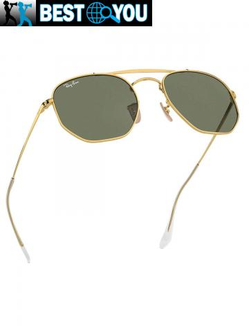 Ray-Ban Homme RB3648 Marshal Lunettes de soleil, Or - 4/5
