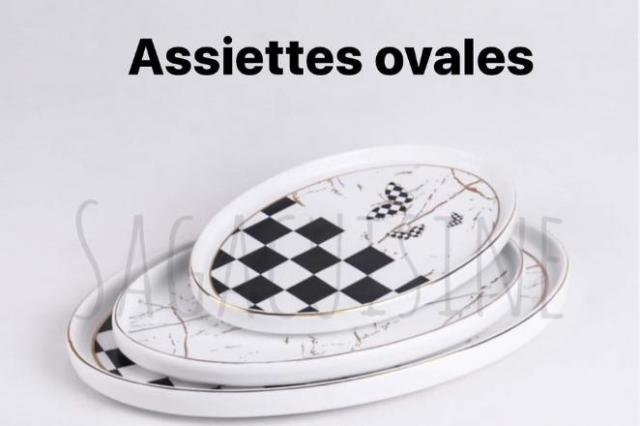 ASSIETTES OVALES